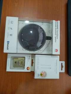 Original Huawei soundstone portable Bluetooth speaker with free gift: super cable & ring stent