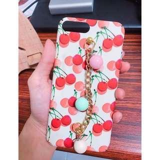 🚚 Iphone7Plus Iphone8Plus超萌櫻桃吊飾手機硬殼
