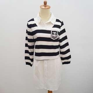 Stripped Baby Doll Shirt Dress