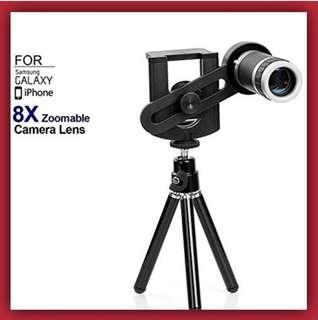 *NEW!* - 8x Zoom Tripod Stand / iPhone Lens / Android Lens