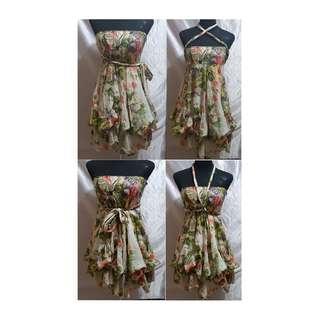 Preloved Floral Beach Dress (Size Details on Description)