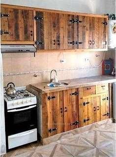 Pallet kitchen set
