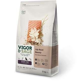 Vigor & Sage 三文魚、百合無穀物配方成貓糧