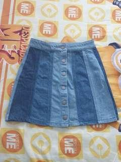 🚚 Blue Bandage Skirt