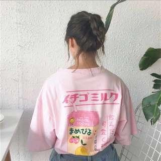 🚚 [PO] Ulzzang milk oversized shirt