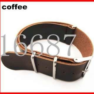⌚FREE MAIL 24mm Synthetic Leather (PU) NATO Watch Strap⌚