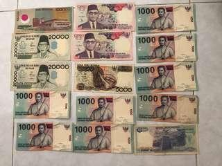 Old note of Rupiah