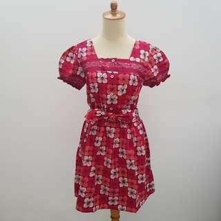 Red Batik Mini Dress