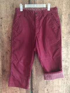 """7分褲 29""""腰 dark red pants"""