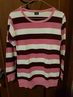 Long sleeve stripes pink