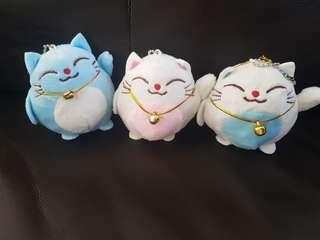 Fortune Cat Lucky keychain.