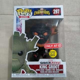 Legit Brand New With Box Funko Pop Games Marvel Contest Of Champions Gamerverse King Groot Toy Figure GITD Glows In The Dark Target Exclusive