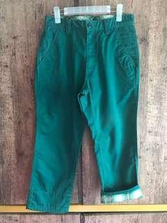 "9分褲 29""腰 emerald green pants"