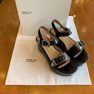 全新 TOGA PULLA sandals Sacai Comme des Garcons Black