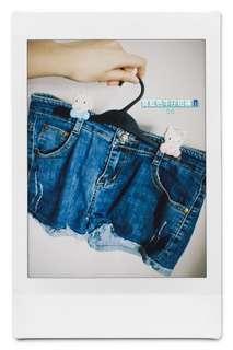 寶藍色牛仔短褲👖
