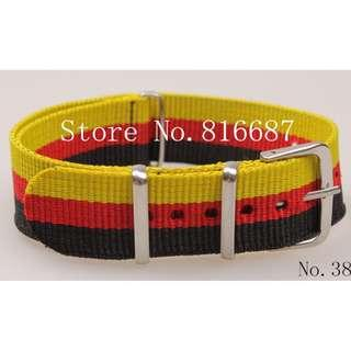 ⌚CASH N CARRY - 18mm Nylon NATO Watch Strap (Germany Flag Color)⌚