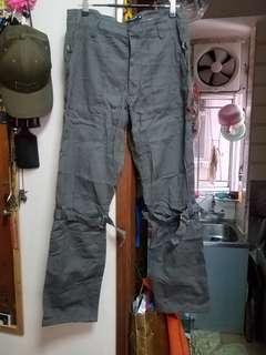 全新 5cm 灰色 多袋直腳布褲