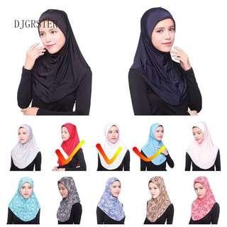 🚚 Instock 3for$10 Hijab Syria / Hijab Inner / Instant shawl