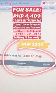 AIRASIA CREDIT (BOOK TO ANY DESTINATION)