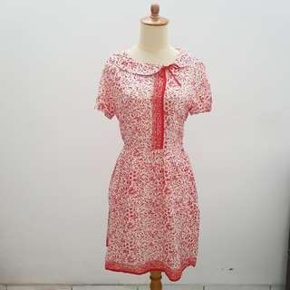 White Batik Dress