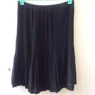 黑色點點雪紡紗甜美浪漫圓裙