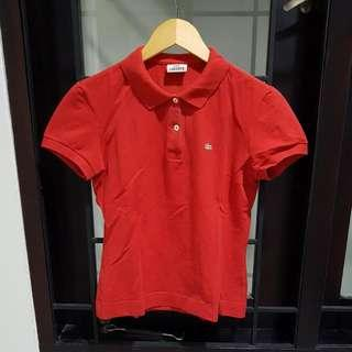 Lacoste red poloshirt