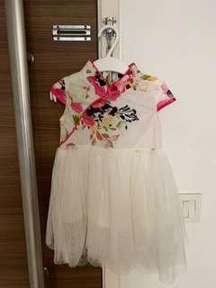 🚚 CNY White/Floral Dress