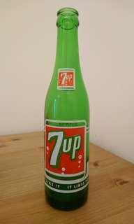 70s 7up 七喜汽水玻璃瓶