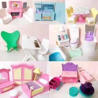 🚚 Dollhouse accessories / doll furniture sets
