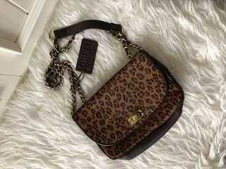 GUESS rare genuine leather mini shoulder and sling bag