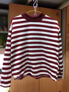 🚚 紅白條紋毛衣