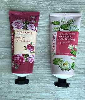 Farm Stay Hand Cream : pink flower blooming. Water lily & pink rose