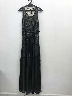 Black Lace Long Dress