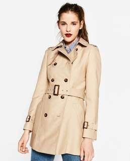 DICARI!! NEW Trench Coat merk Zara, H&M, Stradivarius, Bershka atau Pull&Bear size S atau M