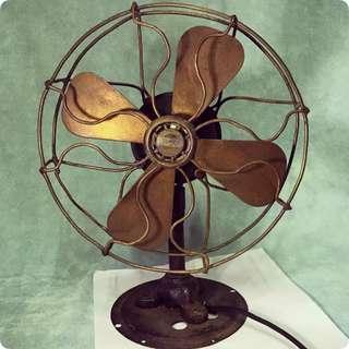 古老德國銅葉風扇 Antique TEEMCO Fan