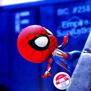 MISB Marvel Hot Toys Cosbaby Spider-Man PS4 Gamerverse With Magnetic
