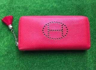$50 [New] Ladies Red Single Zip Wallet
