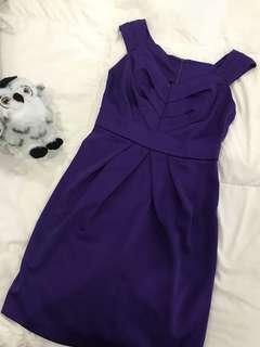 🚚 E collection silk purple dress for sell