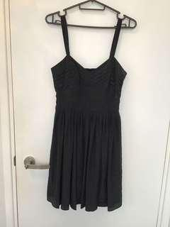 BCBG black silk dress 黑色真絲吊帶裙