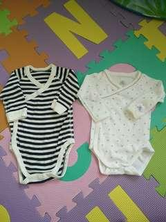 Lightly Used Long Sleeve Baby Rompers