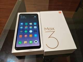 全新小米max3/4G 64G 6.9吋  雙4G雙待 黑色手機
