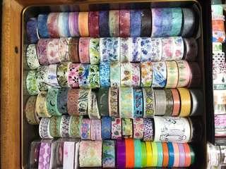 Washi Tapes/Washi Tape Samples/Rolls/ Grabbag