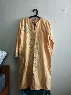 🚚 Orange Turquoise Baju  Kurung
