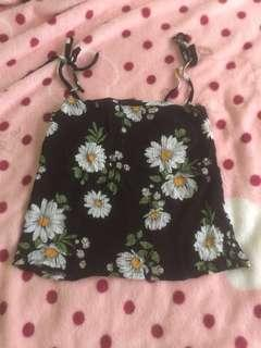 Cute Floral tube crop top with straps