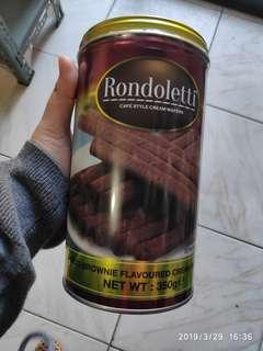 Rondoletti Choco Brownie Flavoured Cream Wafers 350 grams