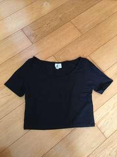 Black Basic Crop Top 黑色短上衣