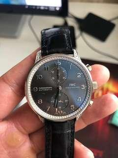 IWC Portuguese full diamond white gold 万国葡萄牙
