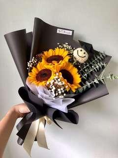 🚚 🎓 Graduation bouquet // 🌻 Sunflower bouquet