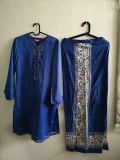 🚚 Blue Jelita Baju Kurung