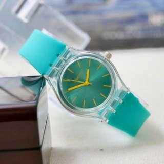 JAM TANGAN JELLY RUBBER ADEM Q*Q VERSI COLORFUL
